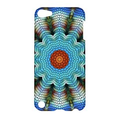 Pattern Blue Brown Background Apple Ipod Touch 5 Hardshell Case