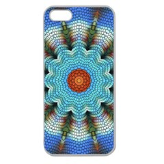 Pattern Blue Brown Background Apple Seamless Iphone 5 Case (clear)