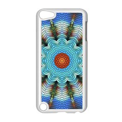 Pattern Blue Brown Background Apple Ipod Touch 5 Case (white)