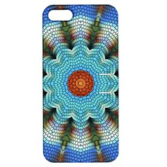 Pattern Blue Brown Background Apple Iphone 5 Hardshell Case With Stand