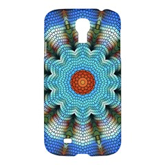 Pattern Blue Brown Background Samsung Galaxy S4 I9500/i9505 Hardshell Case