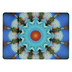 Pattern Blue Brown Background Samsung Galaxy Tab 10 1  P7500 Flip Case