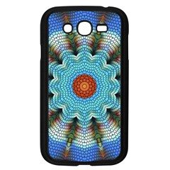 Pattern Blue Brown Background Samsung Galaxy Grand Duos I9082 Case (black)