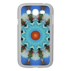 Pattern Blue Brown Background Samsung Galaxy Grand Duos I9082 Case (white)