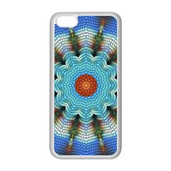 Pattern Blue Brown Background Apple Iphone 5c Seamless Case (white)