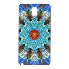Pattern Blue Brown Background Samsung Galaxy Note 3 N9005 Hardshell Back Case