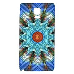 Pattern Blue Brown Background Galaxy Note 4 Back Case