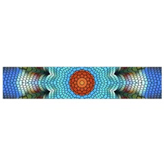 Pattern Blue Brown Background Flano Scarf (small)