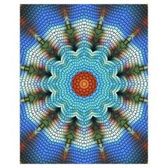 Pattern Blue Brown Background Drawstring Bag (small)