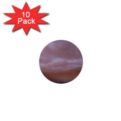Rain Rainbow Pink Clouds 1  Mini Buttons (10 Pack)