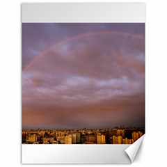Rain Rainbow Pink Clouds Canvas 18  X 24