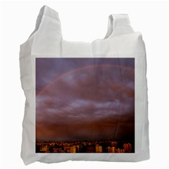 Rain Rainbow Pink Clouds Recycle Bag (one Side)