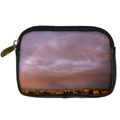 Rain Rainbow Pink Clouds Digital Camera Cases