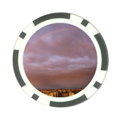 Rain Rainbow Pink Clouds Poker Chip Card Guards (10 Pack)