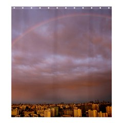 Rain Rainbow Pink Clouds Shower Curtain 66  X 72  (large)