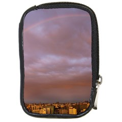 Rain Rainbow Pink Clouds Compact Camera Cases