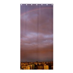 Rain Rainbow Pink Clouds Shower Curtain 36  x 72  (Stall)