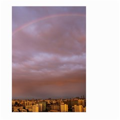 Rain Rainbow Pink Clouds Large Garden Flag (two Sides)