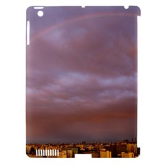 Rain Rainbow Pink Clouds Apple Ipad 3/4 Hardshell Case (compatible With Smart Cover)
