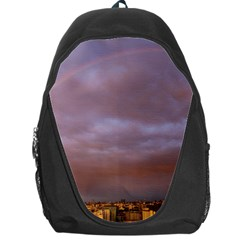 Rain Rainbow Pink Clouds Backpack Bag