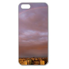 Rain Rainbow Pink Clouds Apple Seamless Iphone 5 Case (clear)