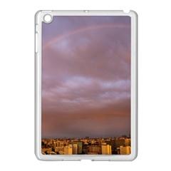 Rain Rainbow Pink Clouds Apple Ipad Mini Case (white)