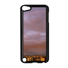 Rain Rainbow Pink Clouds Apple Ipod Touch 5 Case (black)