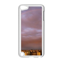 Rain Rainbow Pink Clouds Apple Ipod Touch 5 Case (white)