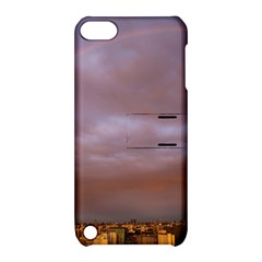 Rain Rainbow Pink Clouds Apple Ipod Touch 5 Hardshell Case With Stand