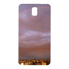 Rain Rainbow Pink Clouds Samsung Galaxy Note 3 N9005 Hardshell Back Case