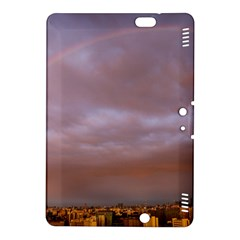Rain Rainbow Pink Clouds Kindle Fire Hdx 8 9  Hardshell Case