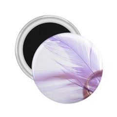 Ring Feather Marriage Pink Gold 2 25  Magnets