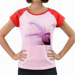 Ring Feather Marriage Pink Gold Women s Cap Sleeve T Shirt