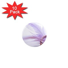 Ring Feather Marriage Pink Gold 1  Mini Magnet (10 Pack)