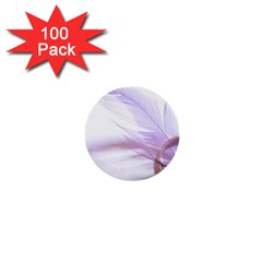 Ring Feather Marriage Pink Gold 1  Mini Buttons (100 Pack)