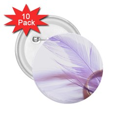 Ring Feather Marriage Pink Gold 2 25  Buttons (10 Pack)