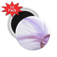Ring Feather Marriage Pink Gold 2 25  Magnets (10 Pack)