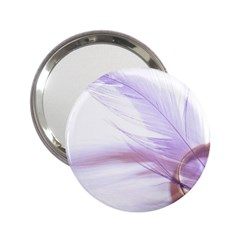 Ring Feather Marriage Pink Gold 2 25  Handbag Mirrors