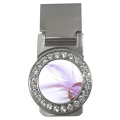 Ring Feather Marriage Pink Gold Money Clips (cz)
