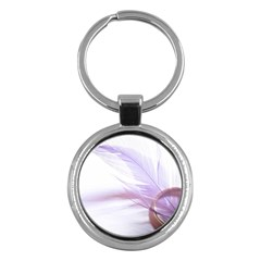 Ring Feather Marriage Pink Gold Key Chains (Round)