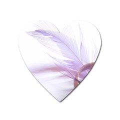 Ring Feather Marriage Pink Gold Heart Magnet