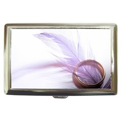 Ring Feather Marriage Pink Gold Cigarette Money Cases
