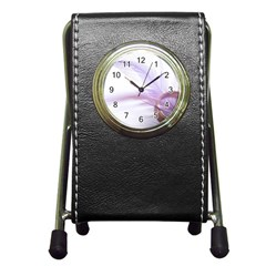 Ring Feather Marriage Pink Gold Pen Holder Desk Clocks