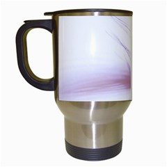 Ring Feather Marriage Pink Gold Travel Mugs (white)