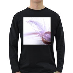 Ring Feather Marriage Pink Gold Long Sleeve Dark T Shirts