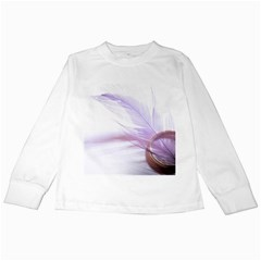 Ring Feather Marriage Pink Gold Kids Long Sleeve T Shirts