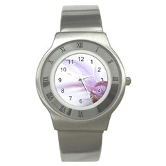 Ring Feather Marriage Pink Gold Stainless Steel Watch