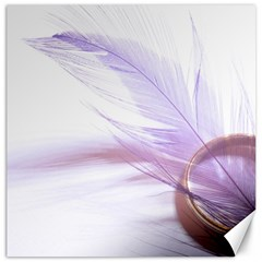 Ring Feather Marriage Pink Gold Canvas 12  X 12