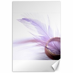 Ring Feather Marriage Pink Gold Canvas 12  X 18