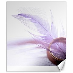 Ring Feather Marriage Pink Gold Canvas 20  X 24
